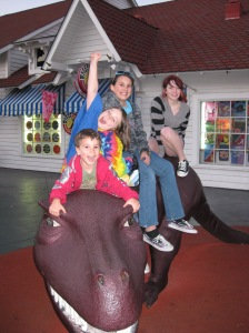 dontcha wish YOU could ride a dinosaur?!