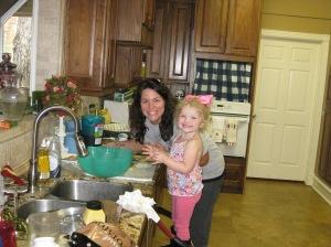 my sweet little potato salad helper!