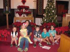 all the kiddos at a historic church